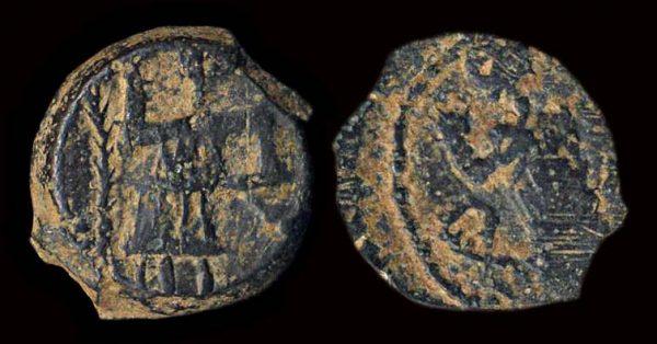 NABATEA, Aretas IV & Shaqilath, circa 9 BC-40 AD, bronze