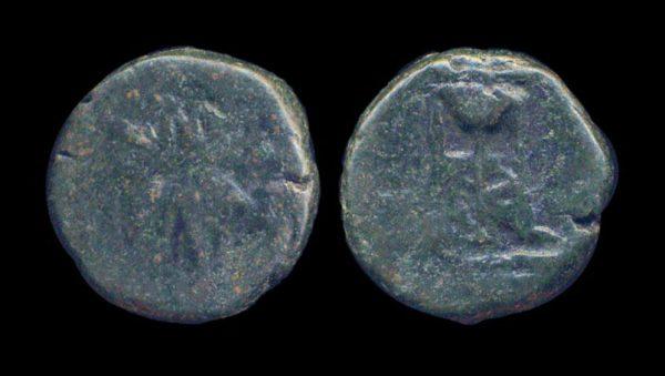 THRACE, PANTIKAPION, bronze, 3-2 century BC