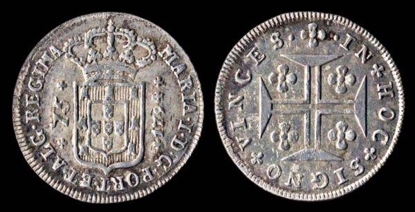 AZORES, silver, 75 reis, 1794