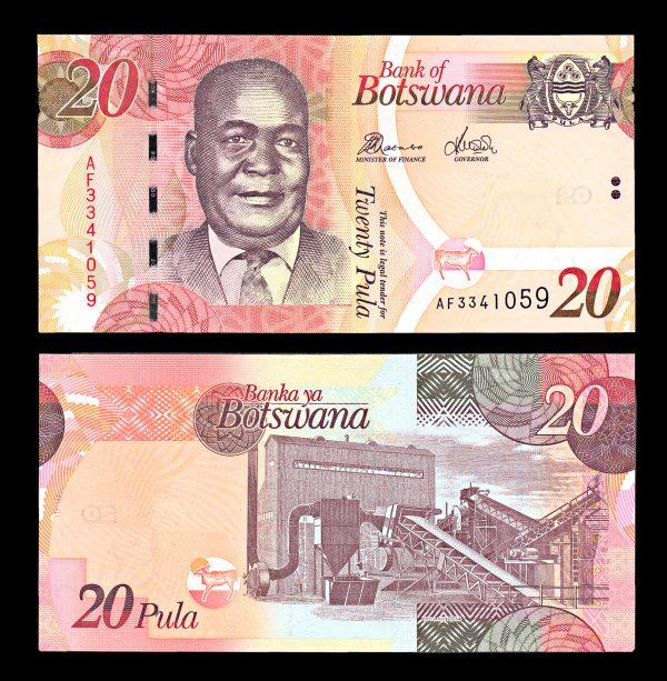 BOTSWANA, 20 pula, 2014