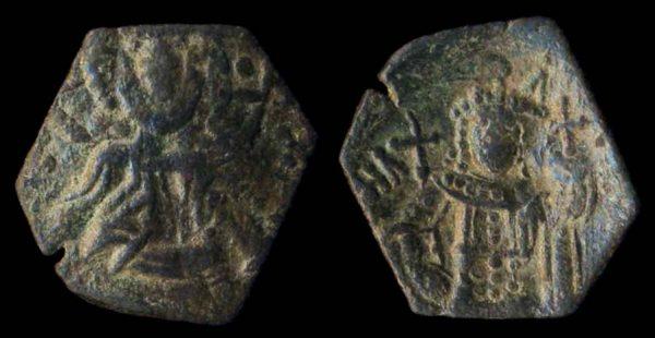 BYZANTINE, Manuel I, 1143-1180 AD, bronze half tetarteron