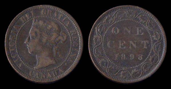 CANADA, 1 cent, 1898 H