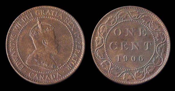 CANADA, 1 cent, 1906