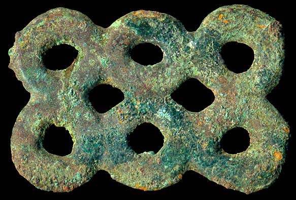 CHINA, ancient bronze multiple ring money