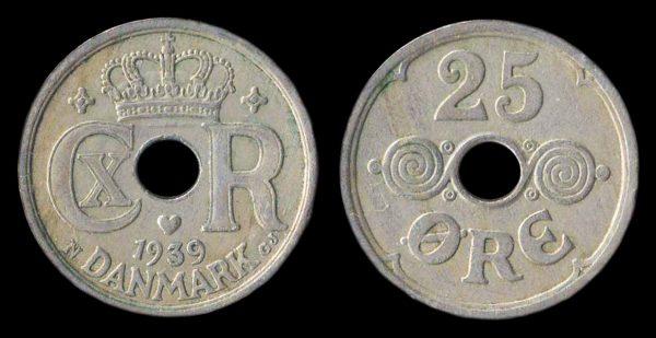 DENMARK, 25 ore, 1939