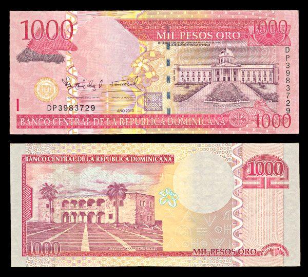 DOMINICAN REPUBLIC, 1000 pesos, 2010
