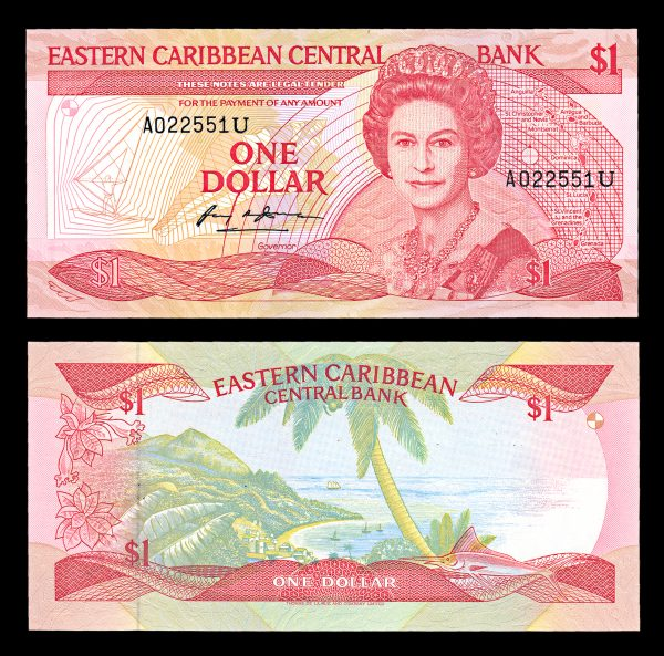 EAST CARIBBEAN STATES, 1 dollar, no date (1988)