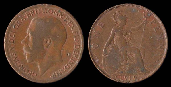 GREAT BRITAIN, 1 penny, 1919 KN