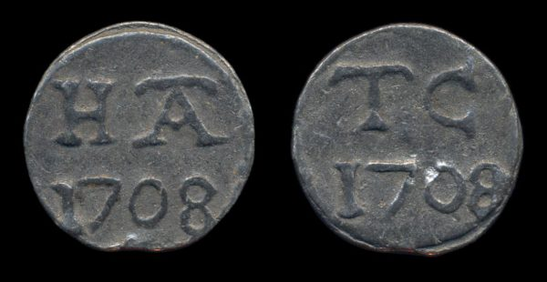 GREAT BRITAIN, lead token, 1708,