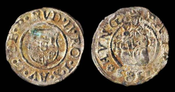 HUNGARY, silver, denar, 1585 KB