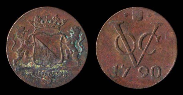 INDONESIA, VOC, duit, 1790, Utrecht mint