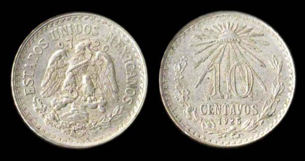 MEXICO, 10 centavos, 1925