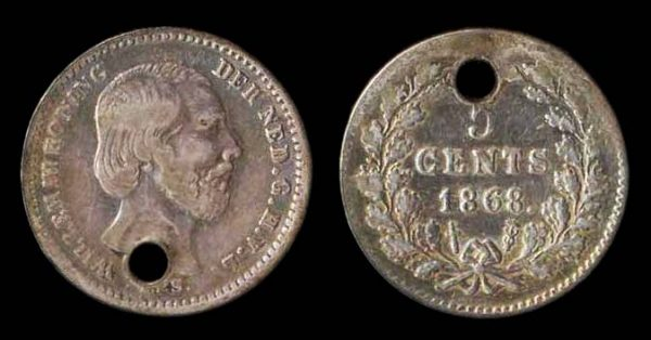 NETHERLAND, 5 cent, 1868