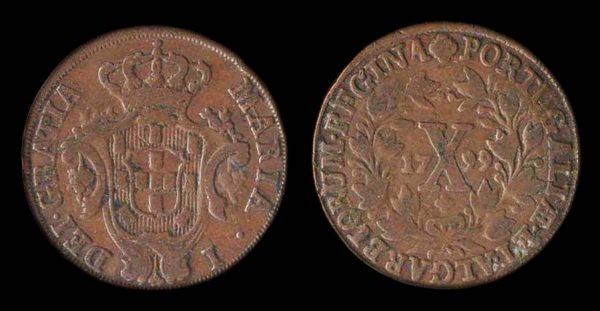 Portugal 10 reis 1799
