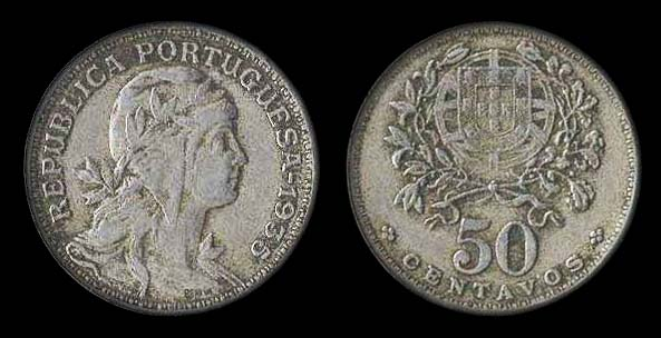 Portugal 50 centavos 1935