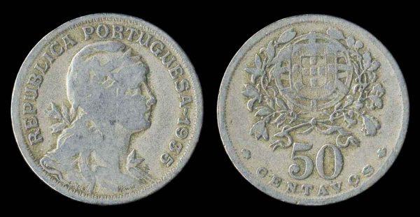 PORTUGAL, 50 centavos, 1935