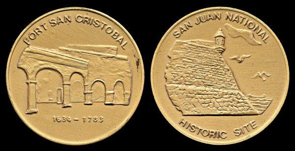 PUERTO RICO, medal, 1980s, Fort Cristobal