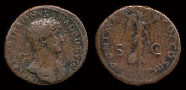 ROMAN EMPIRE, Hadrian, 117-138 AD, bronze as