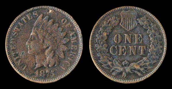 USA, 1 cent, 1875