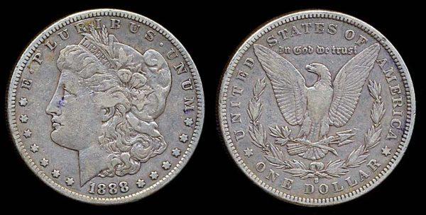 USA, 1 dollar, 1888 S