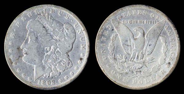 USA, 1 dollar, 1892 CC