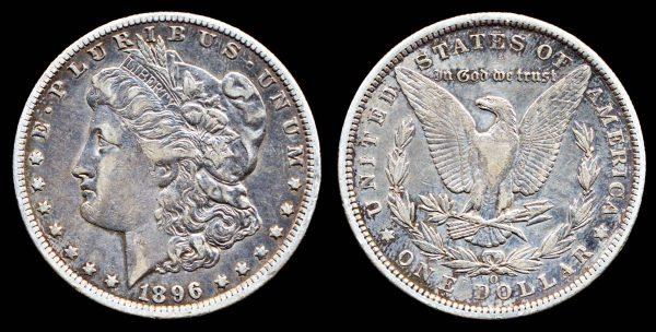 USA, 1 dollar, 1896 O