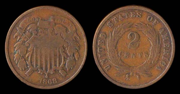 USA, 2 cents, 1868