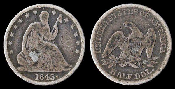 USA, 50 cents, 1843