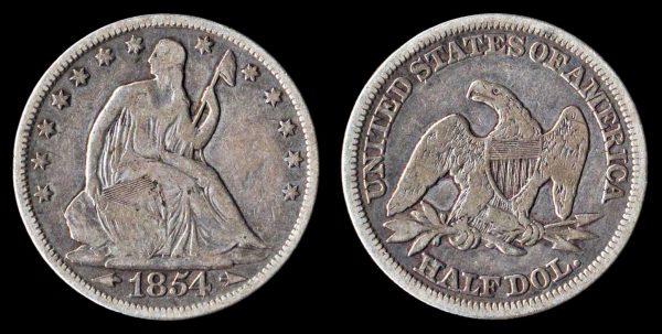 USA, 50 cents, 1854