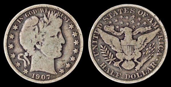 USA, 50 cents, 1907