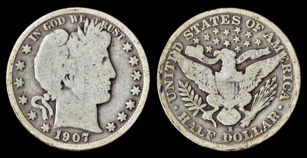 USA, 50 cents, 1907 S