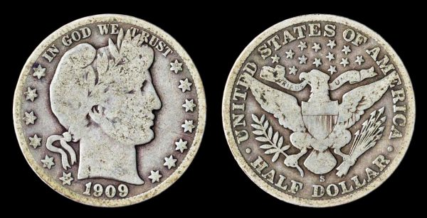 USA, 50 cents, 1909 S