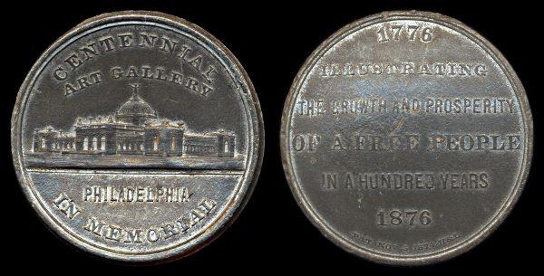 USA, PENNSYLVANIA, medal, 1876, Centennial Art Gallery