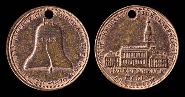 USA, PENNSYLVANIA, Centennial medallet, 1876,
