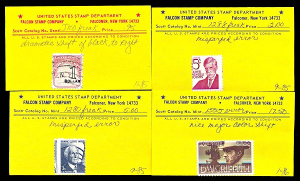 USA stamp error lot