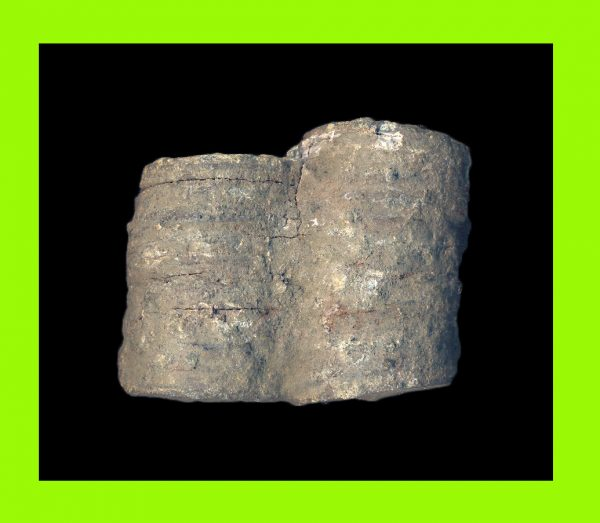 VIETNAM, MINH MANG THONG BAO, 1820-41 AD, double stack of sea salvaged zinc cash from an Indonesian shipwreck
