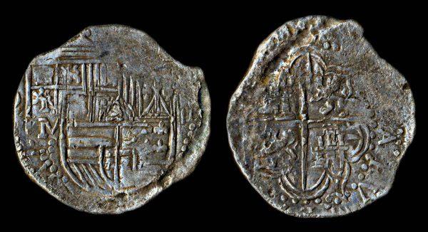 BOLIVIA Felipe II 1556-98 8 reales no date assayor M Potosi mint