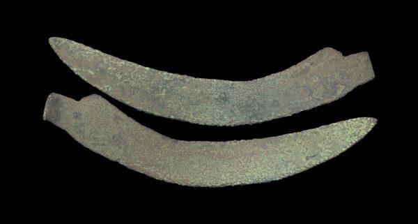 ANCIENT BALKAN BRONZE SICKLE