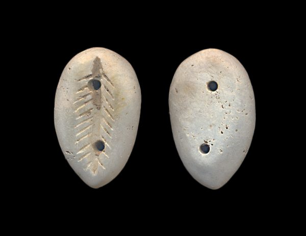 ANCIENT CHINESE white marble imitation cowrie