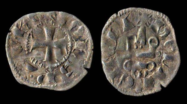 CRUSADERS ACHAEA John of Gravina 1318-33 denier tournois