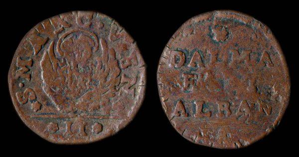 DALMATIA & ALBANIA 2 soldi no date (16-17th century)