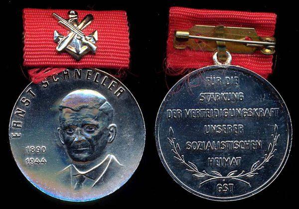 EAST GERMANY GST Ernst Schneller silver medal