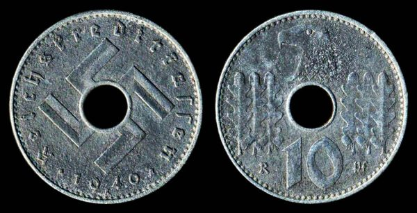 GERMANY NAZI 5 pfennig 1940 A military issue