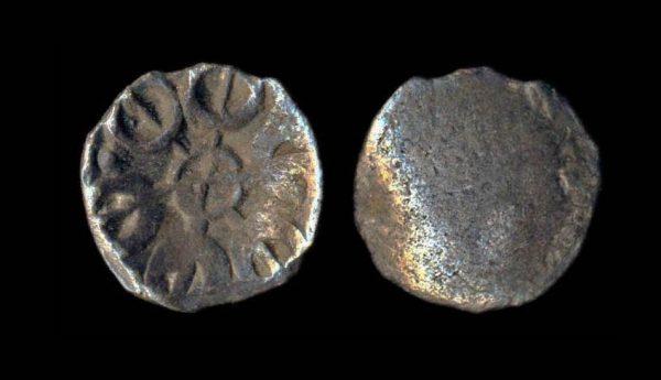 TAXILA-GANDHARA circa 450 BC billon 1/16 satamana
