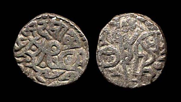 DELHI RAJAS Chahada Deva circa 1172-91 AD bull and horseman jital