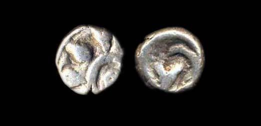GUJERAT-SAURASHTRA REGION silver damma circa 500 AD