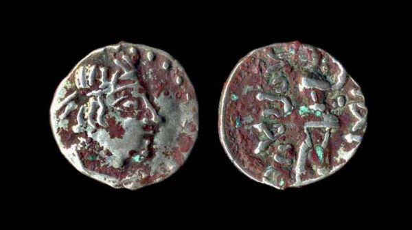 KUSHAN Heraios circa 5 BC - 45 AD silver obol