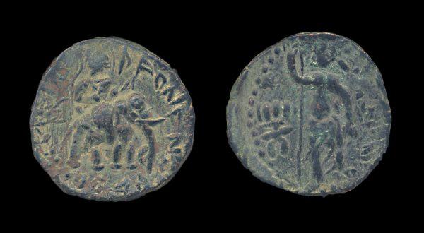 KUSHAN Huvishka 158-195 AD bronze unit