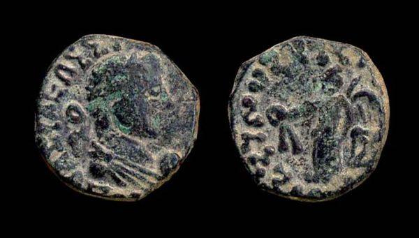 KUSHAN Kujula Kadphises circa 10-35 AD bronze drachm