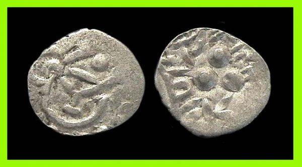 GUJERAT-MALWA REGION silver drachm late 5th century AD